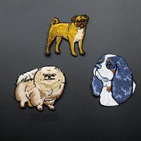 Stoff Sewing -on -Patch, Hund, Stickerei, verschiedene Stile für Wahl, 40x42mm-40x52mm, verkauft von PC
