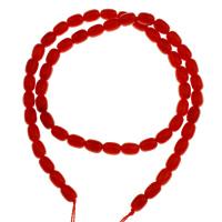 Natürliche Korallen Perlen, 5x7mm, Bohrung:ca. 1mm, Länge:ca. 15.7 ZollInch, 10SträngeStrang/Tasche, ca. 56PCs/Strang, verkauft von Tasche