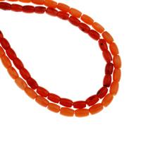 Natürliche Korallen Perlen, keine, 5x7.5mm, Bohrung:ca. 1mm, Länge:ca. 15.7 ZollInch, 10SträngeStrang/Tasche, ca. 52PCs/Strang, verkauft von Tasche