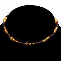 Achat Halskette, Bernstein, natürlich, für Kinder, keine, 330mm, verkauft per ca. 13 ZollInch Strang