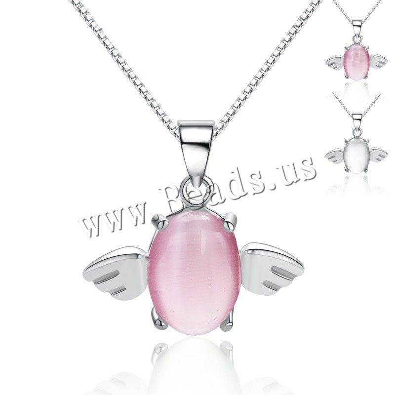 Buy 925 Sterling Silver Pendant Crystal Angel Wing platinum plated faceted colors choice 17.5x17mm Hole:Approx 4-10mm Sold Lot