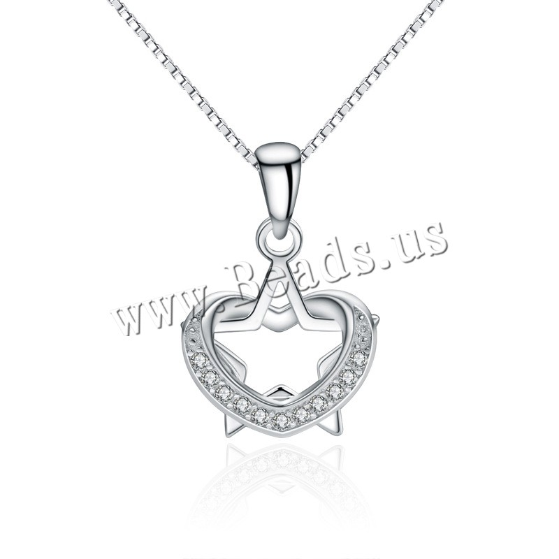 Buy 925 Sterling Silver Pendant Star platinum plated rhinestone 10x15mm Hole:Approx 4-10mm Sold Lot