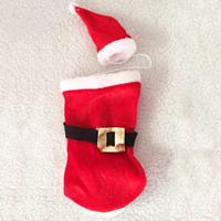 Baumwollsamt Weihnachten Wein Bag, Weihnachtsschmuck, 130x280mm, 60x110mm, verkauft von setzen