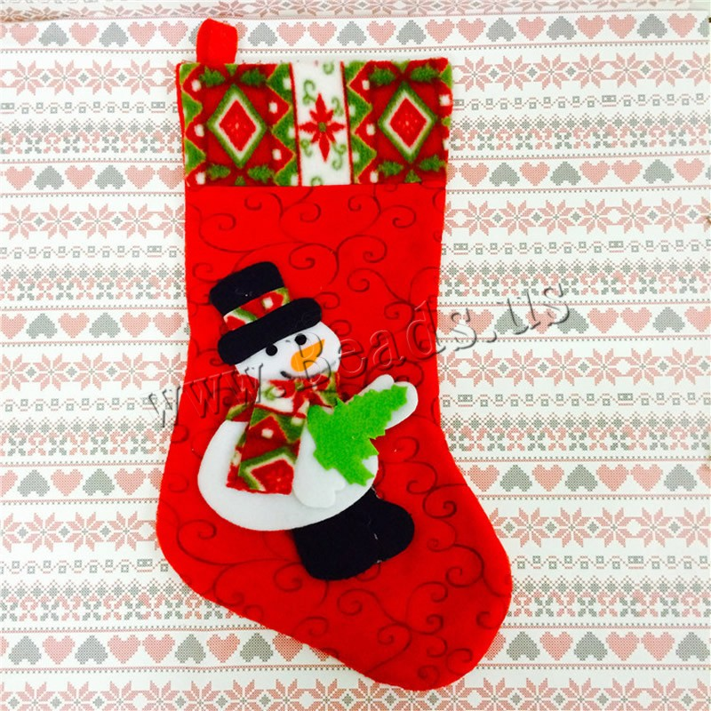 Buy Christmas Gift Bag Velveteen Christmas Sock Christmas jewelry & different styles choice 250x450mm Sold PC