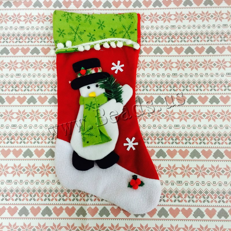 Buy Christmas Gift Bag Velveteen Christmas Sock Christmas jewelry & different styles choice 220x440mm Sold PC