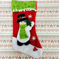 Weihnachtsferien Strümpfe Geschenk Socken, Baumwollsamt, Weihnachtssocke, Weihnachtsschmuck & verschiedene Stile für Wahl, 220x440mm, verkauft von PC