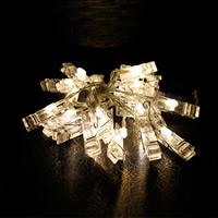 PVC Kunststoff LED-Weihnachtslicht, Weihnachtsschmuck, 55x12mm, verkauft per ca. 2.2 m Strang