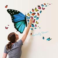 Wand-Sticker, PVC Kunststoff, Rechteck, Klebstoff & wasserdicht, 30x60cm, verkauft von PC