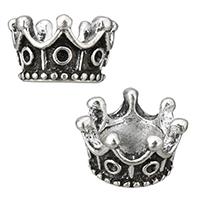 Zinklegierung Perlen Einstellung, Krone, antik silberfarben plattiert, frei von Nickel, Blei & Kadmium, 11.50x7x11.50mm, Bohrung:ca. 5.5mm, Innendurchmesser:ca. 1mm, 500PCs/Menge, verkauft von Menge