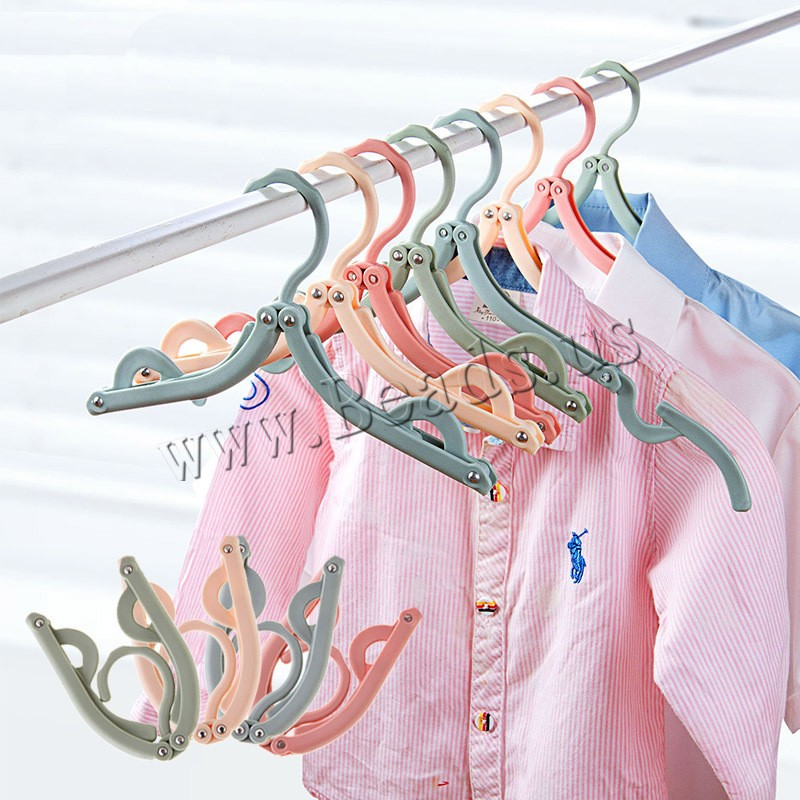 Buy Polypropylene(PP) Clothes Hanger Plastic Foldable colors choice 70x130mm 400x195mm Sold PC