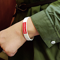 Silikon Armband, unisex, Länge:ca. 7.5 ZollInch, verkauft von PC