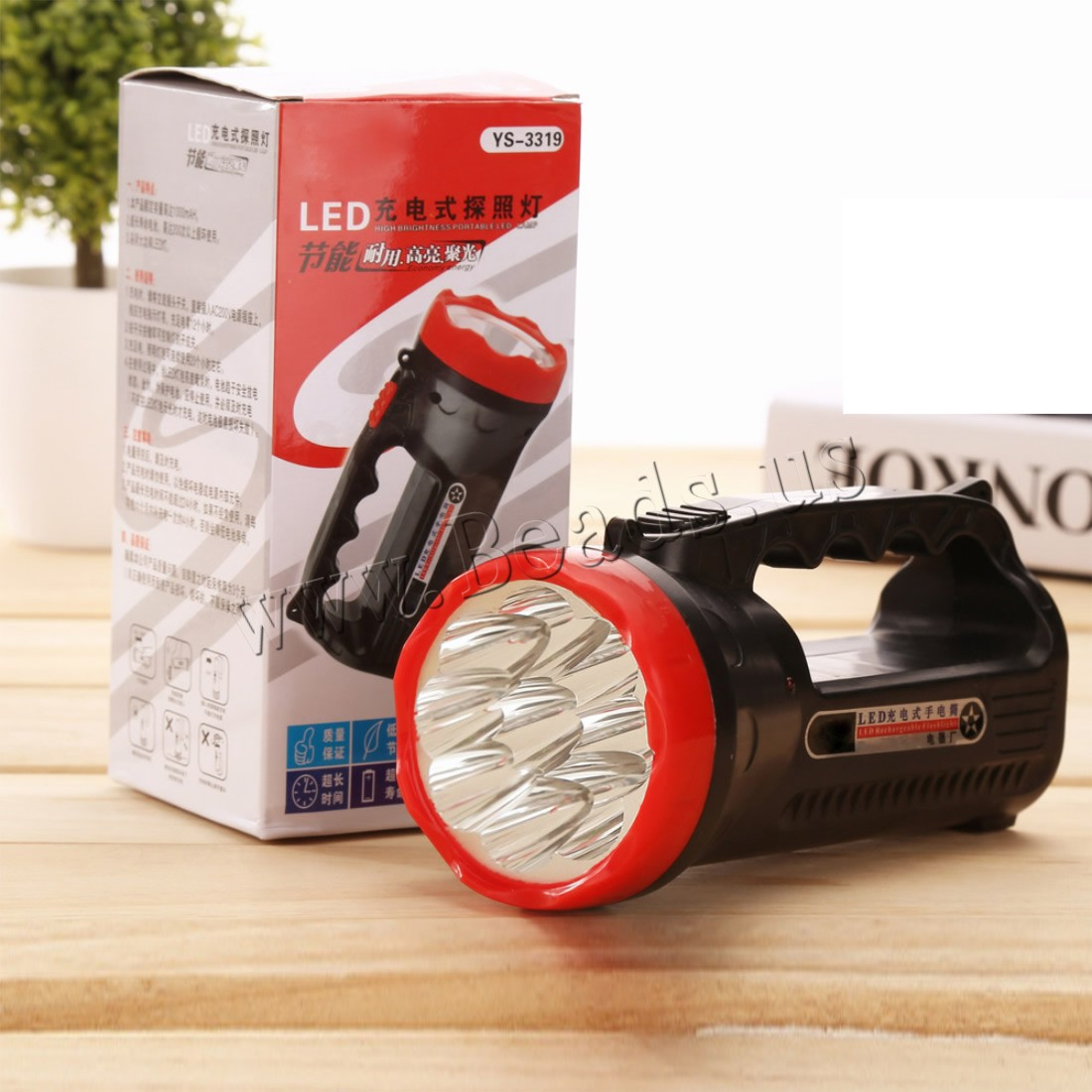 Buy Portable Flashlight Plastic different styles choice & LED 75x160mm Sold PC