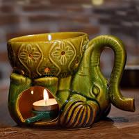 Porzellan Kerzenhalter, Elephant, hohl, keine, 160x110mm, verkauft von PC