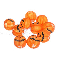 Kunststoff LED-Streifen, Kürbis, Halloween Schmuck, 70x72mm, verkauft per ca. 1.2 m Strang