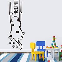 Fensteraufkleber, PVC Kunststoff, Katze, Klebstoff & mit Brief Muster & wasserdicht, 570x190mm, verkauft von setzen