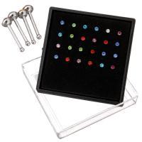 Edelstahl Nasepiercing Schmuck, plattiert, verschiedene Verpackungs Art für Wahl & unisex & gemischt, 2-3.5x2-3x9mm, 24PCs/Box, verkauft von Box