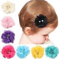 Stoff Haarclip, mit Chiffon, für Kinder, keine, 5.5cm, verkauft von PC