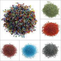 Gemischte Glas Rocailles, Glas-Rocailles, rund, keine, 1.9x2mm, Bohrung:ca. 0.5mm, ca. 27000PCs/Tasche, verkauft von Tasche