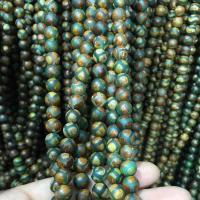 Natürliche Tibetan Achat Dzi Perlen, rund, verschiedene Größen vorhanden, keine, verkauft per ca. 15.5 ZollInch Strang