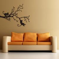 Wand-Sticker, PVC Kunststoff, Baum, Klebstoff & wasserdicht, 570x493mm, verkauft von setzen