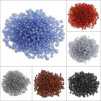 Gemischte Glas Rocailles, Glas-Rocailles, rund, keine, 3x3.6mm, Bohrung:ca. 1.5mm, ca. 500PCs/Tasche, verkauft von Tasche