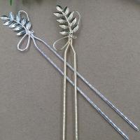 Haarstock-Befunde, Messing, Blatt, plattiert, keine, frei von Nickel, Blei & Kadmium, 47x22mm, 10PCs/Tasche, verkauft von Tasche