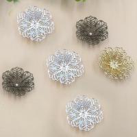 Messing Perlenkappe, Blume, plattiert, keine, frei von Nickel, Blei & Kadmium, 26mm, Bohrung:ca. 1.5mm, 100PCs/Tasche, verkauft von Tasche