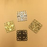 Messing Cabochon Einstellungen, Quadrat, plattiert, keine, frei von Nickel, Blei & Kadmium, 15mm, 100PCs/Tasche, verkauft von Tasche