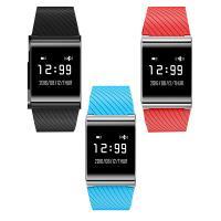 TROZUM® Smart Watch , Silikon, mit Glas & Edelstahl, plattiert, Herzfrequenzmessung & monatóireacht a dhéanamh ar codlata & pedometer 3D & Touch-screen, keine, 38x9.8mm, Länge:ca. 9.5 ZollInch, verkauft von PC