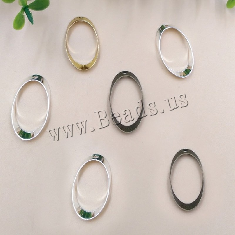 Buy Brass Jewelry Pendants Oval plated colors choice nickel lead & cadmium free 25x13mm Hole:Approx 1.5mm 100PCs/Bag Sold Bag
