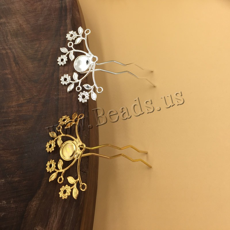 Buy Hair Stick Findings Brass Iron Branch plated colors choice nickel lead & cadmium free 47x25mm 10PCs/Bag Sold Bag