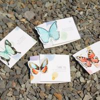 Grußkarte, Papier, mit Brief Muster, gemischte Farben, 105x75mm, 10PCs/Tasche, verkauft von Tasche