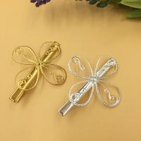 Haarklammer Zubehör, Eisen, Blume, plattiert, keine, frei von Blei & Kadmium, 39mm, 100PCs/Tasche, verkauft von Tasche