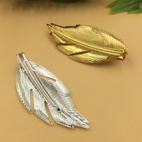 Haarklammer Zubehör, Eisen, Blatt, plattiert, keine, frei von Blei & Kadmium, 60x25mm, 100PCs/Tasche, verkauft von Tasche