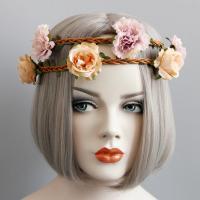 Stirnband, Rohrstock, mit Stoff & Satinband, für Frau, 400mm, verkauft von PC