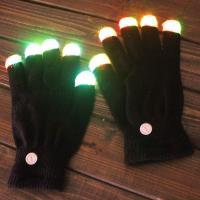 Handschuhe, Baumwolle, Halloween Schmuck & LED, 250mm, verkauft von Paar