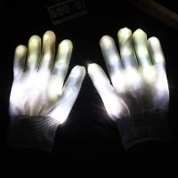 Handschuhe, Nylon, Halloween Schmuck & LED, weiß, 230mm, verkauft von Paar