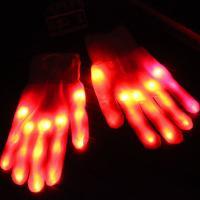 Handschuhe, Nylon, Halloween Schmuck & LED, rot, 230mm, verkauft von Paar