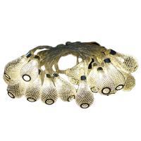 Zinklegierung LED-Weihnachtslicht, Glühbirne, plattiert, Weihnachtsschmuck, keine, frei von Blei & Kadmium, 50mm, verkauft per ca. 2.15 m Strang