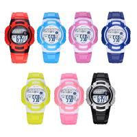 MINGRUI® Uhr, Kunststoff, mit Glas & Edelstahl, plattiert, für Kinder & LED, keine, 37x13mm, Länge:ca. 8 ZollInch, verkauft von PC