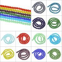 Kristall-Perlen, Kristall, Volltonfarbe, gemischte Farben, Bohrung:ca. 1mm, Länge:ca. 15 ZollInch, 10SträngeStrang/Tasche, verkauft von Tasche