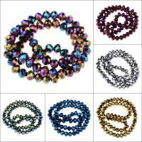 Kristall-Perlen, Kristall, UV plattiert, verschiedene Größen vorhanden, gemischte Farben, Bohrung:ca. 1mm, Länge:ca. 15 ZollInch, verkauft von Tasche