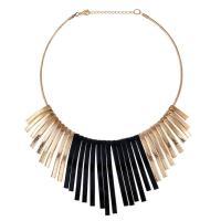 Eisen Halsketten, mit Verlängerungskettchen von 5cm, plattiert, für Frau & satiniert, frei von Blei & Kadmium, 95x135mm, verkauft per ca. 15.5 ZollInch Strang