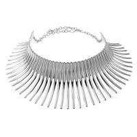 Eisen Halsketten, mit Verlängerungskettchen von 5cm, plattiert, für Frau, keine, frei von Blei & Kadmium, 50x100mm, verkauft per ca. 17.5 ZollInch Strang