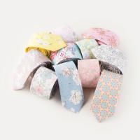 Krawatten, Baumwolle, Pfeilspitze, Kunstdruck, verschiedene Muster für Wahl & mit Blumenmuster & für Frau, 60x1450mm, verkauft von Strang