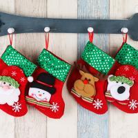 Nichtgewebte Stoffe Weihnachten Socke, Weihnachtsschmuck & verschiedene Stile für Wahl, 90x160mm, verkauft von PC