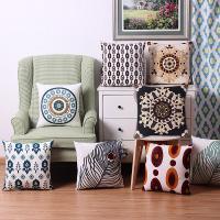 Kissenbezug, Baumwolle, Quadrat, bestickte & verschiedene Muster für Wahl, 450x450mm, verkauft von PC