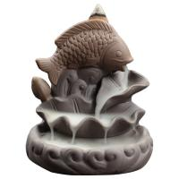 Porcelain Backflow Incense Burner, Lila Sand, 87x75x90mm, verkauft von PC