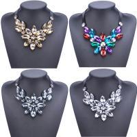 Acryl Halskette, mit Satinband, Blume, für Frau, keine, 540mm, verkauft per ca. 21 ZollInch Strang