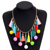 Mode Statement Halskette, Plüsch, mit Nylon & Zinklegierung, mit Verlängerungskettchen von 6cm, für Frau, frei von Blei & Kadmium, 185mm, verkauft per ca. 18.5 ZollInch Strang